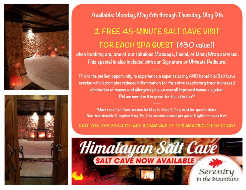 FREE SALT CAVE SESSION…..Yes, really!